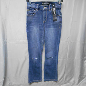 NWT Express distressed bell crop high rise jean 00